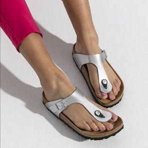 Birkenstock Gizeh Thong Sandal, silver 39